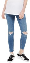 Topshop Women's Jamie Rip Maternity Jeans
