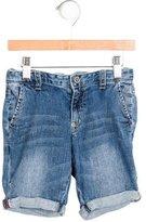 Armani Junior Boys' Denim Cuffed Shorts