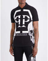Philipp Plein Twin Skull Cotton-piqué Polo Shirt