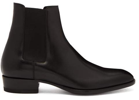 2bf4b096 Wyatt Leather Chelsea Boots - Mens - Black