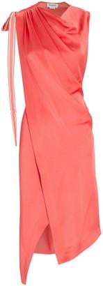 Monse Draped Satin Sleeveless Dress