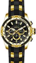 Invicta Men's SPEEDWAY Gold-Tone Silicone Band Steel Case Quartz Watch 25940