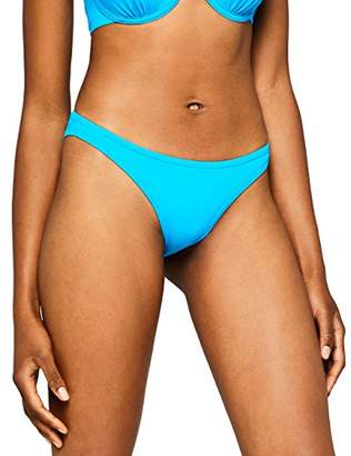 Iris & Lilly Women's Swimwear Bikini Bottoms Mesh lining Print Multicoloured (Tropical No Binding) X-Large