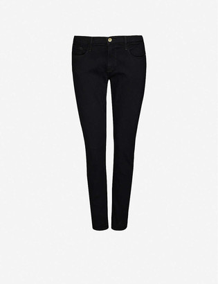 Frame Le Garcon straight-leg mid-rise stretch-denim jeans