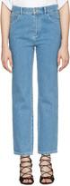 Chloé Blue Scalloped Jeans
