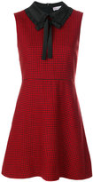 RED Valentino houndstooth pattern dress