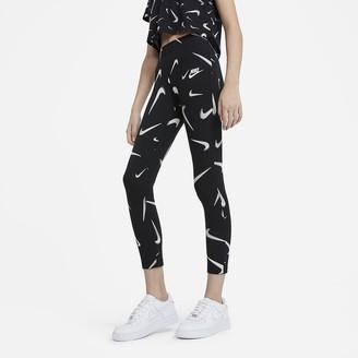 Nike Big Kids' (Girls') Printed Leggings Sportswear Favorites