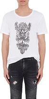 Balmain Men's Graphic T-Shirt-WHITE
