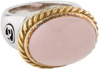 David Yurman Two-Tone Rose Quartz Ring