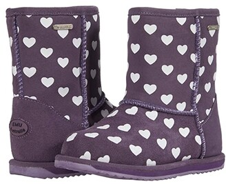 Emu Brumby Heart (Toddler/Little Kid/Big Kid) (Grape) Girl's Shoes