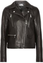 Karl Lagerfeld Ikonik Odina Leather Biker Jacket - IT48