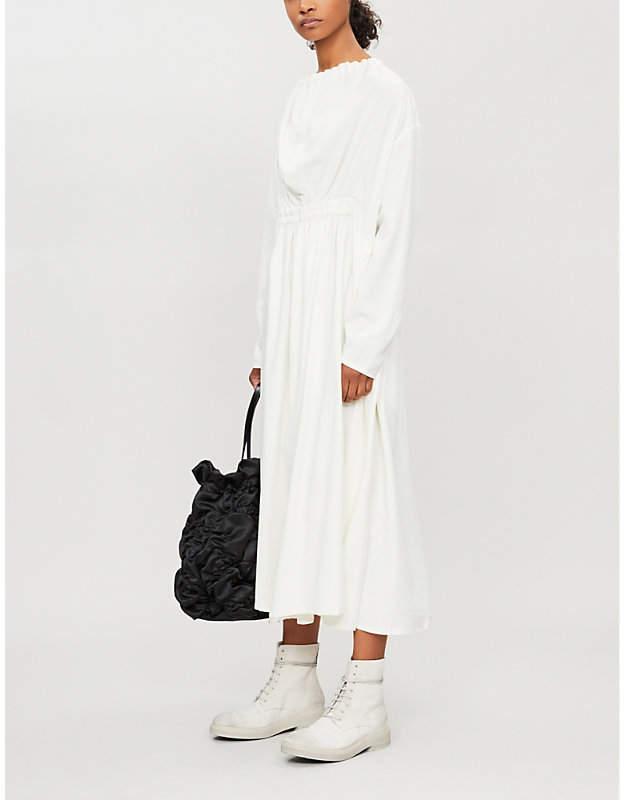 Selfridges Toogood The Artist straight flared-skirt silk midi dress
