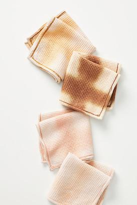 Anthropologie Amie Tie-Dye Dishcloths, Set of 4 By in Brown Size SET OF 4