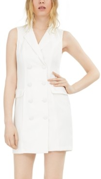 City Studios Juniors' Tuxedo Bodycon Dress