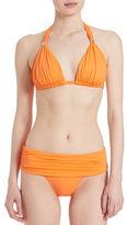 Lauren Ralph Lauren Shirred Triangle Bikini Top