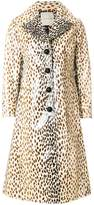 Marco De Vincenzo coated printed coat
