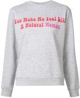 Natasha Zinko 'Natural Woman' print sweatshirt