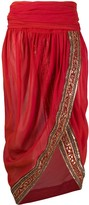 Romeo Gigli Pre Owned 1990s embroidered sheer skirt