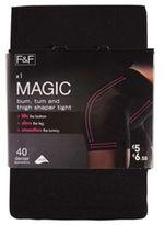 F&F Magic Body Shaper 40 Denier Tights with Lycra, Women's
