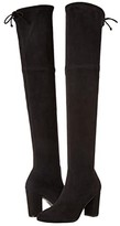 Stuart Weitzman Zuzanna 80 (Black Suede Stretch) Women's Boots