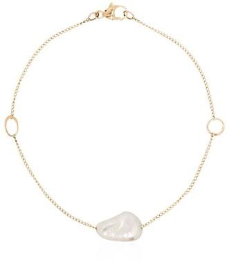 Melissa Joy Manning 14kt Yellow Gold Pearl Pendant Bracelet