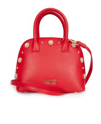 Versace Accessories Studded Logo Bowling Bag Colour: RED