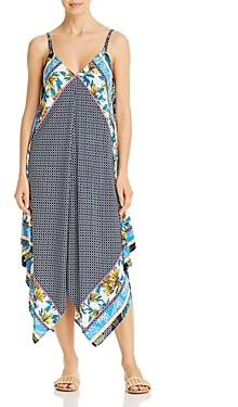 Tommy Bahama Printed Asymmetric Cover-Up Dress