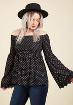 ModCloth Flirt and Foremost Long Sleeve Top in L