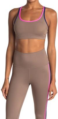 Wear It To Heart Triple Threat Contrast Trim Strappy Sports Bra