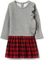 Gap Ruffle mix-fabric dress