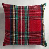 Pier 1 Imports Stewart Plaid Red Chenille Oversized Pillow