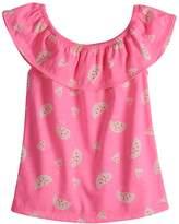 Toddler Girl Jumping Beans Ruffled Print Top