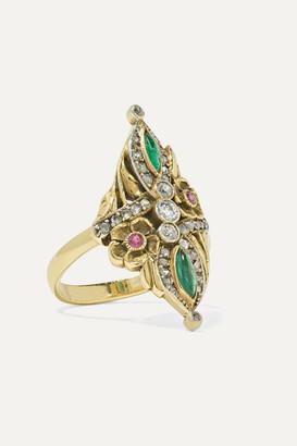Fred Leighton 1895 Platinum-topped Gold Multi-stone Ring