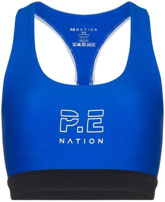 P.E Nation Logo-Print Sports Bra