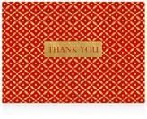 Caspari Diamond Brocade Thank You Cards, Box of 8