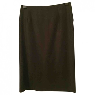 Valentino Anthracite Cashmere Skirt for Women Vintage