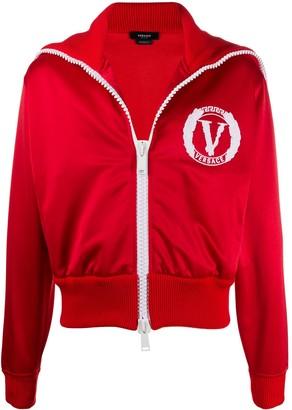 Versace Logo-Embroidered Sport Jacket