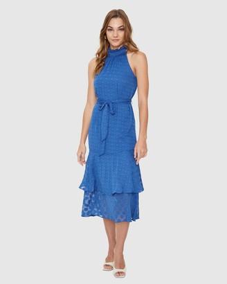 Cooper St Manhattan High Neck Frill Dress