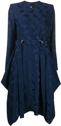 Stella McCartney Horse Print Asymmetric Dress