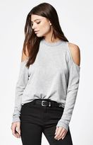 La Hearts Cold Shoulder Crew Neck Sweatshirt