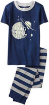 Crazy 8 Navy 'No Night Light' Fitted Pajama Set - Infant, Toddler & Boys