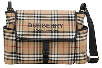 Burberry Vintage Check Flap Diaper Bag