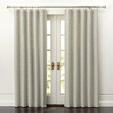 Crate & Barrel Desmond Silver/Cream Curtain Panels
