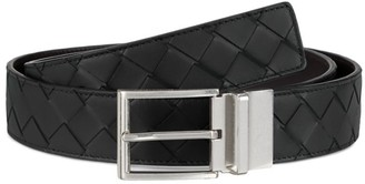 Bottega Veneta Reversible Interlock Leather Belt