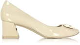 Tory Burch Gigi Dulce de Leche Soft Patent Leather Mid-Heel Pump