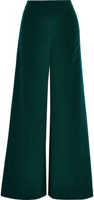 Adam Lippes Silk-crepe Wide-leg Pants
