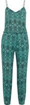Vix Jane Snake-Print Linen-Blend Jumpsuit