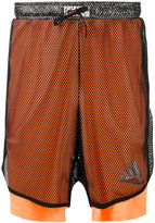 adidas layered fishnet sports shorts - men - Polyamide/Polyester - XS
