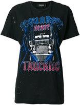 DSQUARED2 Trucker Tour print T-shirt