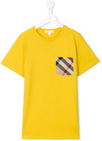 Burberry house check pocket T-shirt